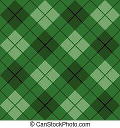 bias, grønne, plaid