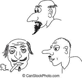 billederne, karikatur