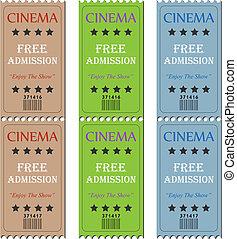 billetter, biograf