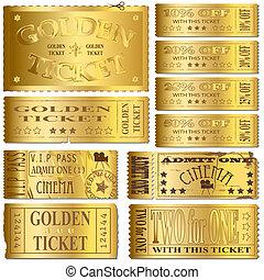 billetter, guld