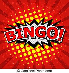 bingo!, komisk, tale, bubble.