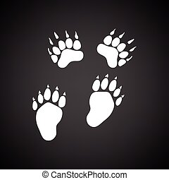 bjørn, ikon, trails