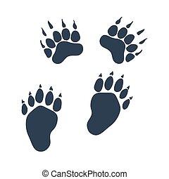bjørn, trails, ikon