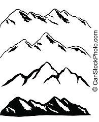 bjerg højdepunkt, snedækkede