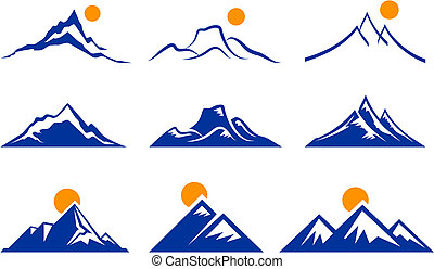 bjerg, iconerne