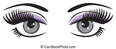 blå øje