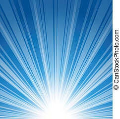 blå, abstrakt, sunbeam, baggrund