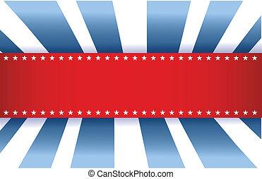 blå, amerikaner flag, hvid, konstruktion, rød