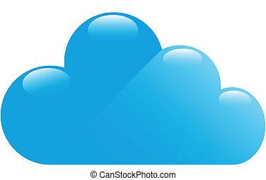 blå, blanke, sky