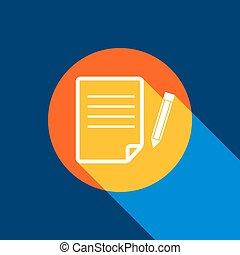 blå, blyant, uendelig, tangelo, selektiv, lys, tegn., cirkel, gul, produced., baggrund., klar, avis, sort, vector., banearbejderen, hvid, køle skygg, ikon