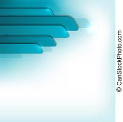 blå, brochure, moderne