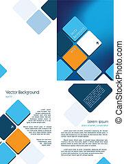 blå, brochure