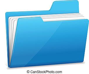 blå, brochuren, dokumenter, fil