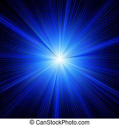 blå, farve, eps, burst., konstruktion, 8