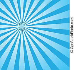 blå, firmanavnet, sunburst, retro