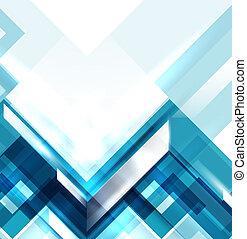 blå, geometriske, moderne, abstrakt, baggrund