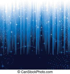 blå, great, sneflager, festlige, mønster, themes., eller, baggrund., stjerner, stribet, jul, vinter