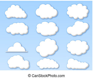 blå himmel, skyer, grumset