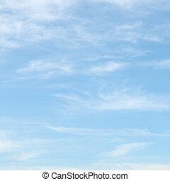 blå himmel, skyer, lys