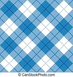 blå, hvid, plaid, bias