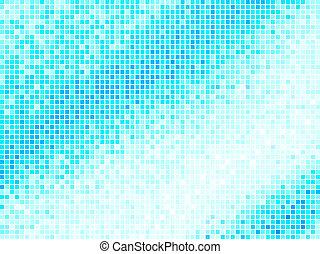 blå kvadratiske, lys, abstrakt, baggrund., multicolor, vektor, flise, pixel, mosaik