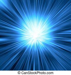 blå lyse, briste