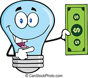 blå lyse, lovforslag, dollar, pære