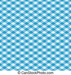 blå, mønster, gingham