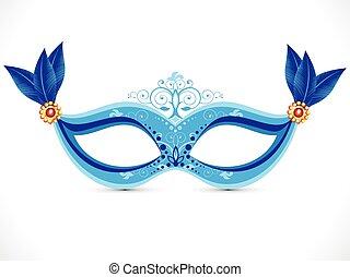 blå, maske, kunstneriske, abstrakt