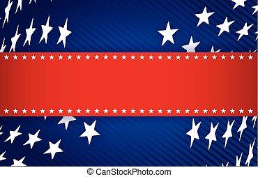 blå, patriotiske, hvid, illustration, rød