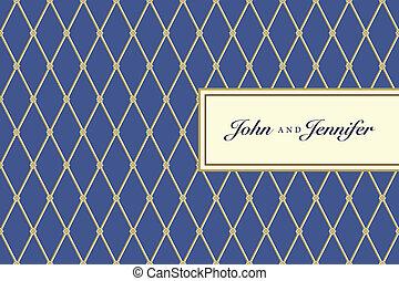blå, plaid, mønster, ramme, vektor, udsmykket, lille