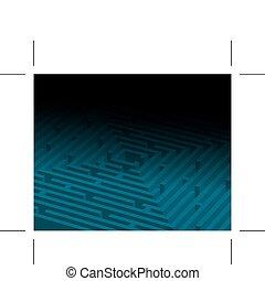 blå, stor, labyrint, /, labyrint