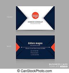 blå trekant, firma, abstrakt moderne formgiv, banearbejderen, card