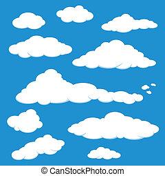 blå, vektor, himmel sky