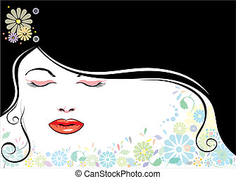 blackhair, zeseed, blomst