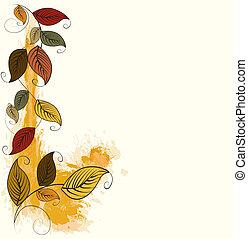 blade, baggrund, efterår