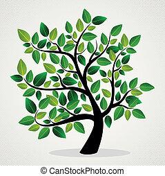 blade, begreb, træ
