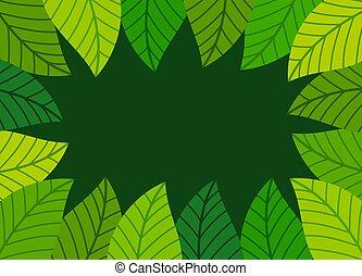 blade, border., grønne