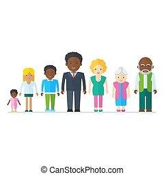 blandet, sort familie