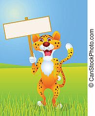 blank underskriv, gepard, cartoon