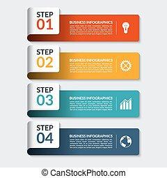 blive, bruge, væv, antal, firma, præsentation, infographic, konstruktion, dåse, bannere, template.