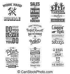 blive, eller, typographic, grunge, removed., firma, dåse, sæt, edited, motivering, quotes., vinhøst, indvirkning
