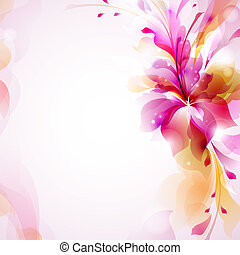 blomst, abstrakt