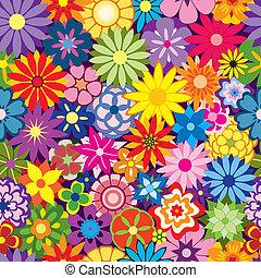 blomst, farverig, baggrund