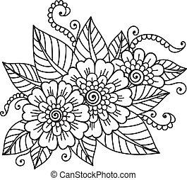 blomst, ornamentere