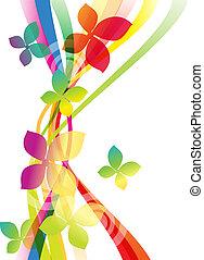 blomster, baggrund, vektor