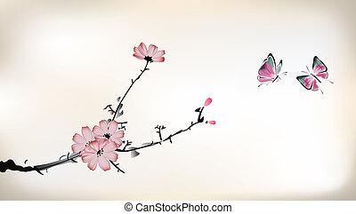 blomstre, maleri