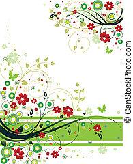 blomstrede, abstrakt, baggrund