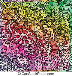 blomstrede, abstrakt, multicolor, baggrund