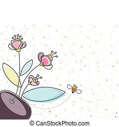 blomstrede, bi